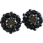 Black Bead Earrings by Robert Rose