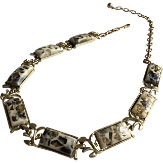 Coro Art Glass Chiker Necklace
