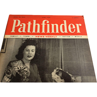 Pathfinder Magazine 4/24/1946 Ads: Ford, PA RR, Champion Spark Plug