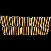 Black and Butterscotch Beakelite Buttons Set of 10