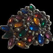 Dress Clip Multicolor Stones