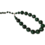 Green Bead Choker Necklace