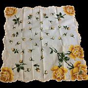 Yellow Rose Large Handkerchief Hanky