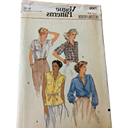 Vogue Pattern 7009 Misses Blouse sz 12
