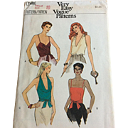 Vogue Sewing Pattern 7500 Misses Tops Size 10 bust 32.5