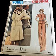Vogue  Pattern 1021 Original design by Christian Dior Misses Top, Skirt, Pants Size 10