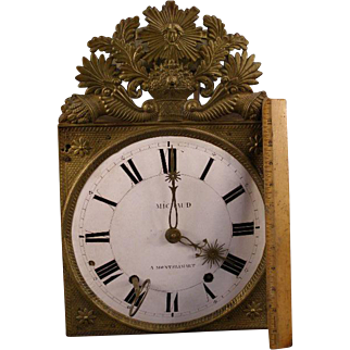 ~Big EARLY 1800's French Morbier Comtoise Wag on Wall Privincial Pendulum Clock~