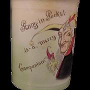 ORIGINAL 1930's  Royal Bayreuth /Doulton Hand Painted Noke Jester Tobacco Humidor Jar RARE!