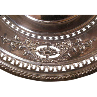 Antique Manchester Sterling Silver Reticulated Charger Platter Hallmarked Plate HEAVY