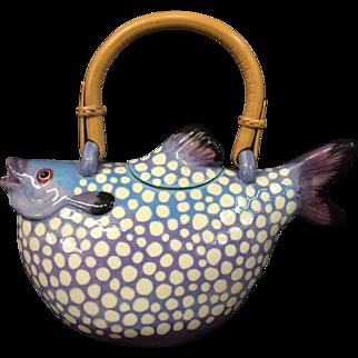 Rare Vintage Animal & Co. Puffer Fish Teapot
