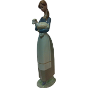Lladro 4505 Girl with Lamb RETIRED! Mint Condition!
