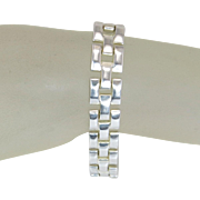 Designer Estate Milor 925 Sterling Silver 8 Inch Magnetic Clasp Bracelet