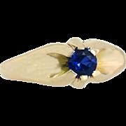Vintage Estate 14 Karat Gold .40ct Genuine Blue Sapphire Solitaire Ring 4.1g