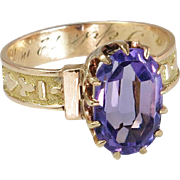 Details about  Victorian Late 1800's Estate 14K Rose Gold 1.80ct Amethyst Ring