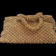 Vintage 1920's French rhinestone crystal clutch bag purse