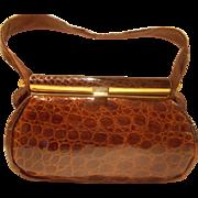 Stunning vintage 1940's crocodile handbag in amazing condition