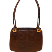 Vintage 1960's French alligator skin handbag /shoulder bag