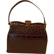 Cute vintage 1940's crocodile handbag