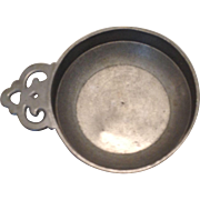 Lovely English Pewter Porringer 3 3/4 Inches