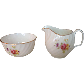 Vintage Adderley Bone China Creamer & Sugar England