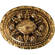 Vintage 1960's Signed Freirich Gold Gilt Pin Lovely