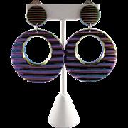 French Purple Disco Earrings