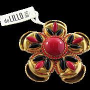 William DeLillo Gold Shell Brooch