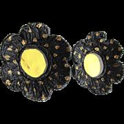Vintage French Poppy Earrings