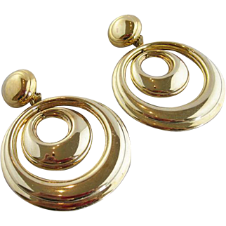 Vintage French Disco Earrings