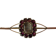 Antique Georgian Almandine Garnet Locket Pendant Brooch
