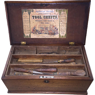 Oak Tool Chest - Phineas Smith 1860's