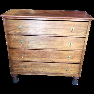 4 Drawer Walnut Dresser - William and Mary c 1700