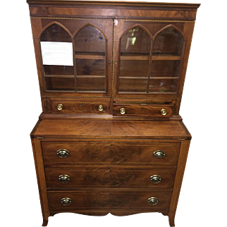 Federal Mahogany Secretary - New England c1810
