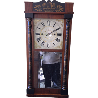 Half Column and Splat Shelf Clock c1828