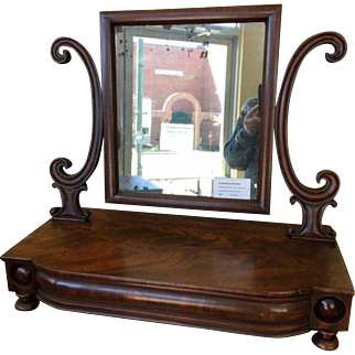 Sheraton Mahogany Dressing Mirror 19th C
