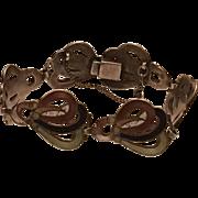 Vintage Margot de Taxco Mexico Sterling Silver & Enamel Bracelet