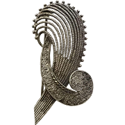 Vintage Theodor Fahrner German Sterling Silver & Marcasite Brooch