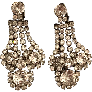 Vintage Signed Weiss Rhinestone Dangle Earrings