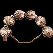 Vintage Margot de Taxco Sterling Silver Enamel Bracelet
