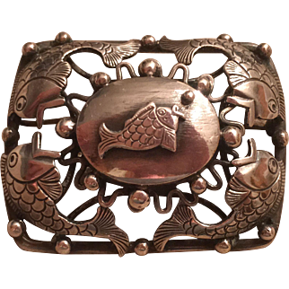 Vintage Scandinavian 830 Silver Fish Brooch