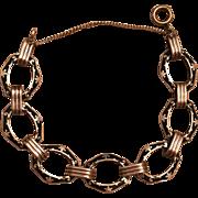 Vintage Art Deco Sterling Silver Black Enamel Bracelet