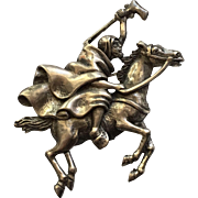 Vintage Alexander Korda Thief of Bagdad Man Riding Horse Brooch