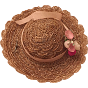 Vintage 1950s Vogue Ginny Straw Hat
