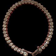 Vintage Art Deco 935 Sterling Silver Paste Bracelet