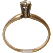 14k Yellow Gold Engagement or Promise Ring .15 Ct TW