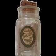 Vintage Dier Kiss Sachet Bottle Kerkoff Distributors NY  9/16 oz.