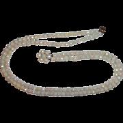 "White Aurora Borealis Double Strand Circa 1950""s Necklace"