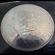 Winston Churchill Queen Elizabeth 1965 Coin Letter Opener