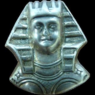 Jewel Art Sterling Silver Egyptian Revival Sphinx Head Brooch Pin