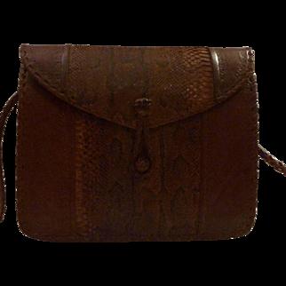 Stylish Crossbody Snakeskin Vintage Purse Handbag Braided Strap